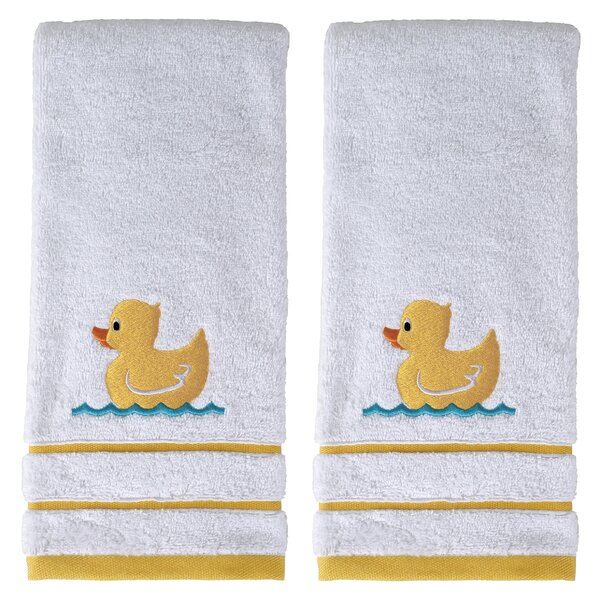 Duckie Paddle 100% Cotton Hand Towel (Set of 2) by Viv + Rae